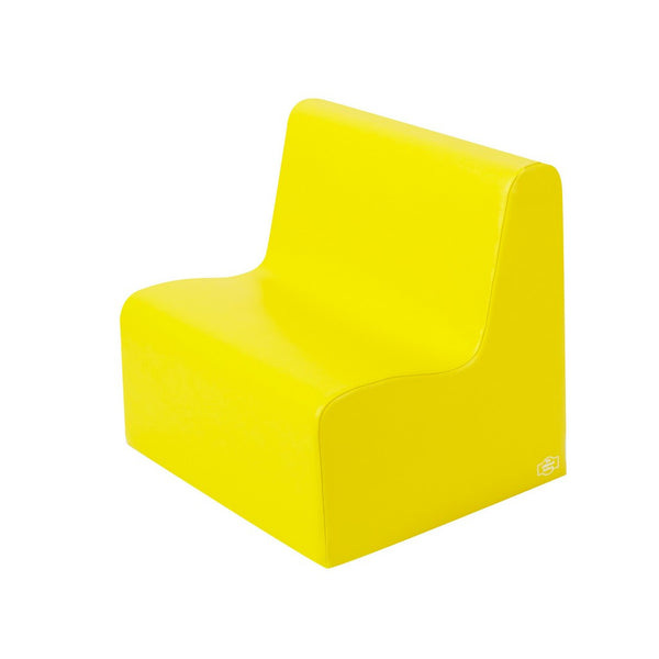 Children's Factory School Age Contour Love Seat - Yellow