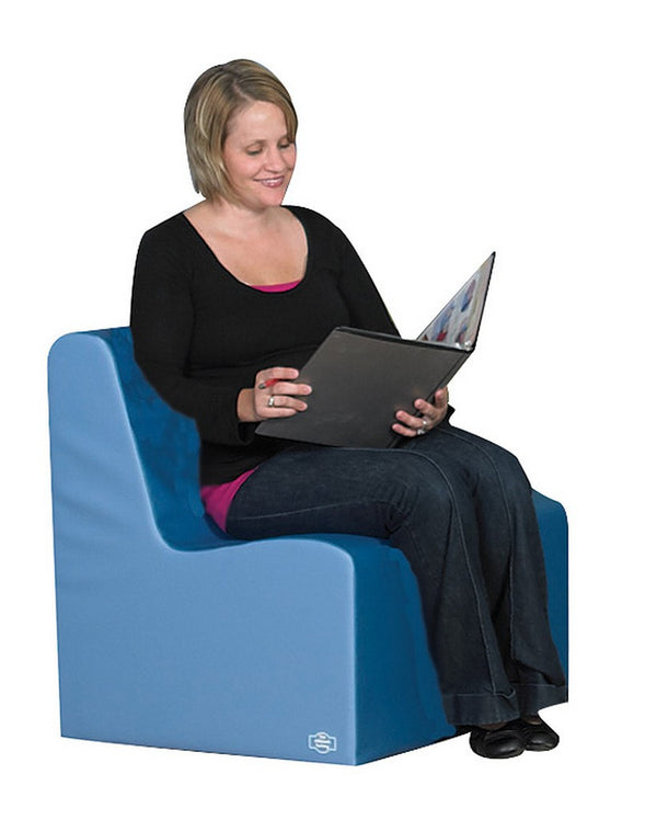 Bigger Age Contour Chair - Deep Water/Sky Blue