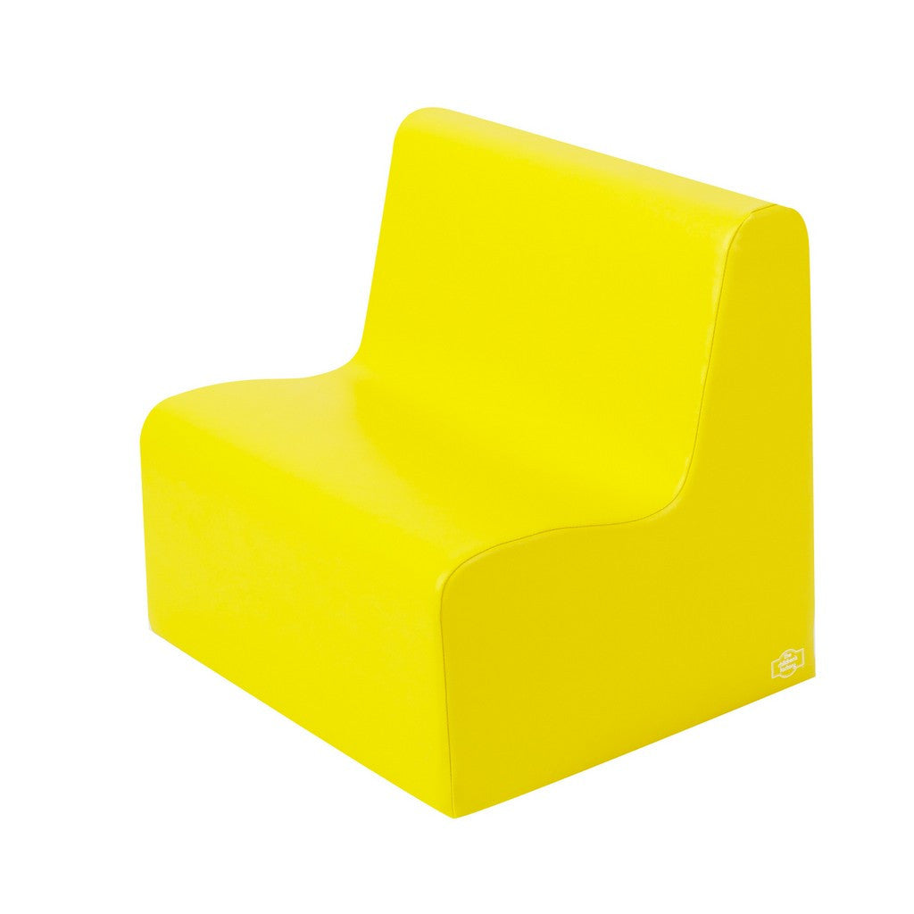 Bigger Age Contour Love Seat - Yellow