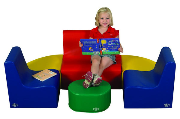Children's Factory Medium Tot Contour Seating - Primary 6 Piece