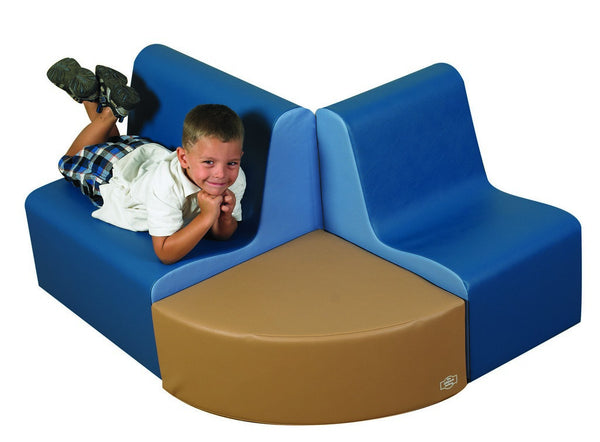 Children's Factory School Age Contour Seating - Woodland 3 Piece