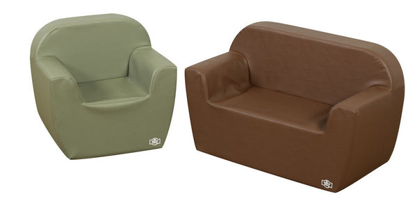Club Seating - Dark Woodland 2 Piece