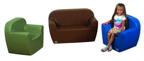 Club Seating - Dark Woodland 3 Piece