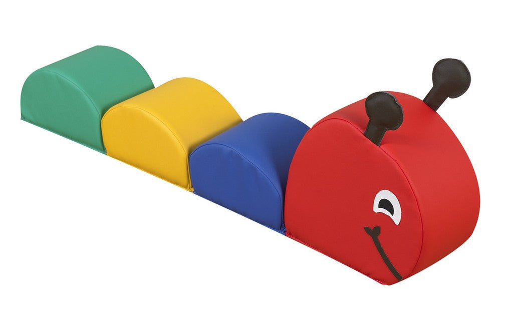 Crawly Caterpillar,wipe clean polyurethane with soft foam filling