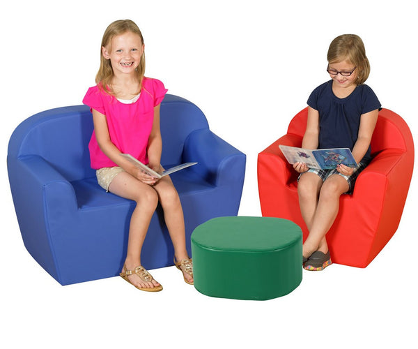 "Children's Factory 12"" Club Furniture Set - Blue/Green/Red"