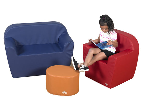"Children's Factory 12"" Club Furniture Set - Blue/Orange/Red"