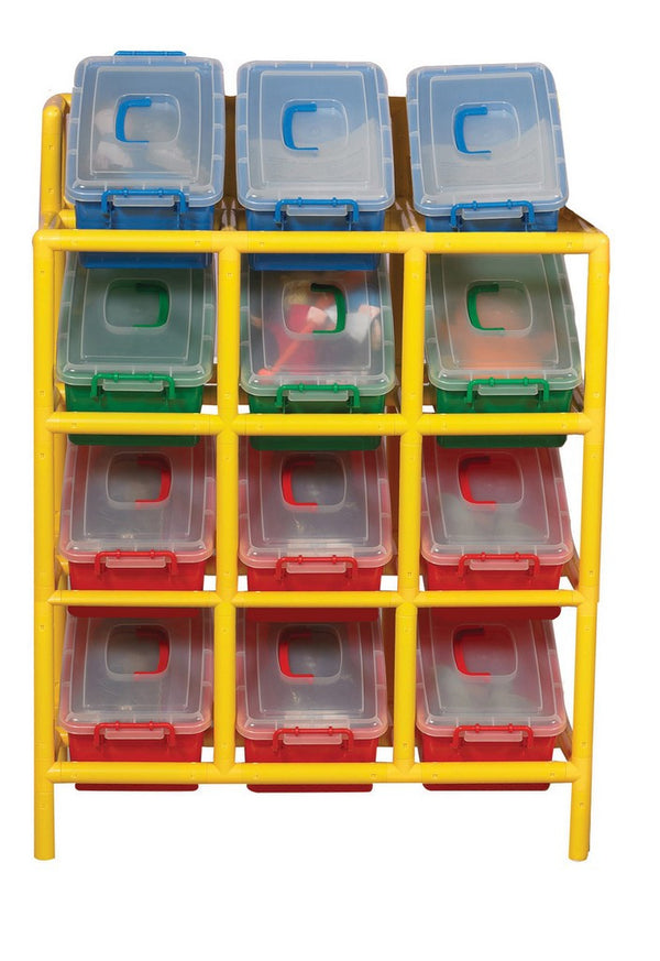 Children's Factory 12 Bin Tilt Storage