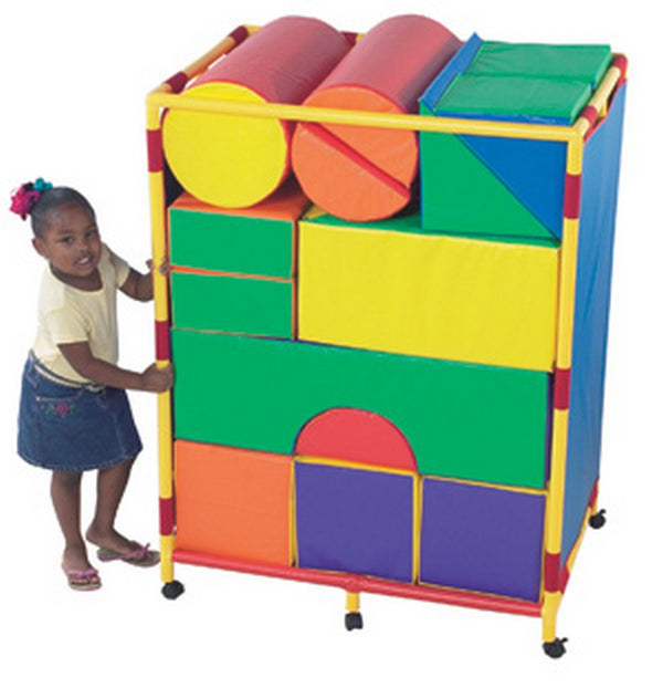 Children's Factory Soft Big Block Trolley - Set A