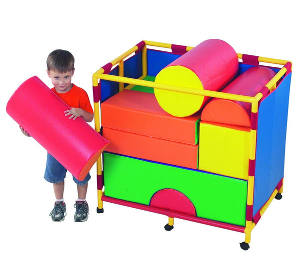 Children's Factory Soft Big Block Trolley - Set B
