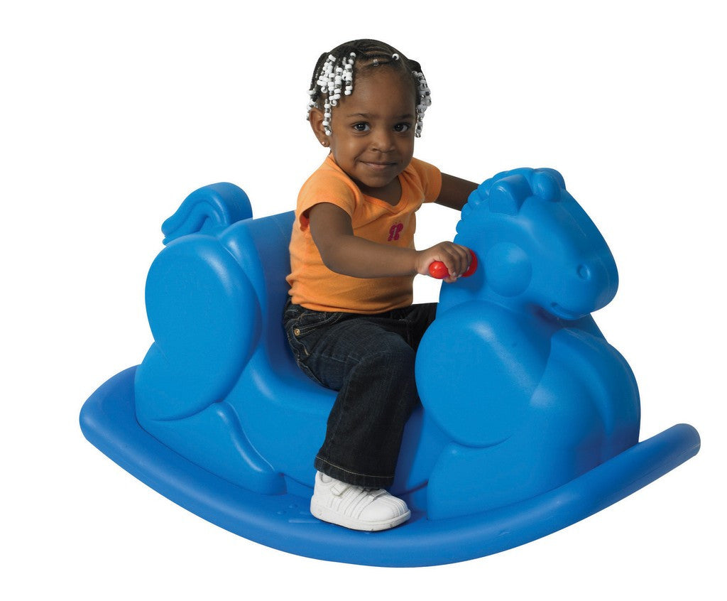 Children's Factory Molded Rocking Horse - Blue