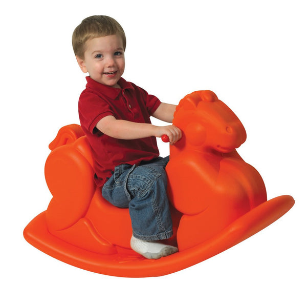 Children's Factory Molded Rocking Horse - Orange