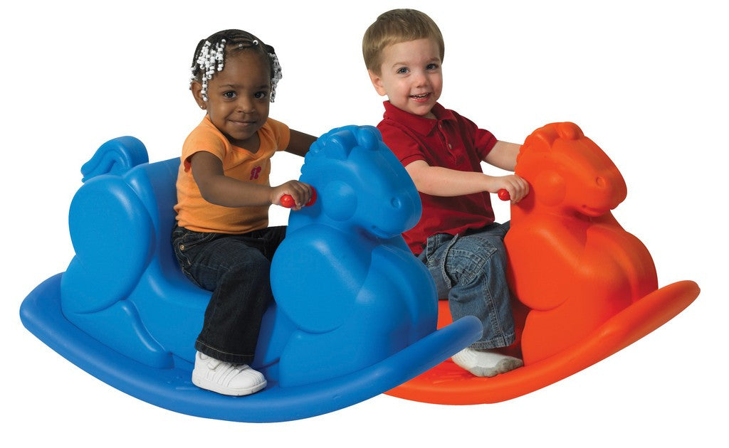 Children's Factory Molded Rocking Horses - Set of 2
