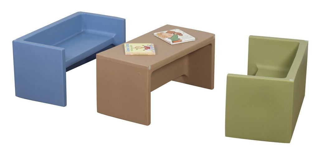 Children's Factory Woodland Adapta-Benches - Set of 3