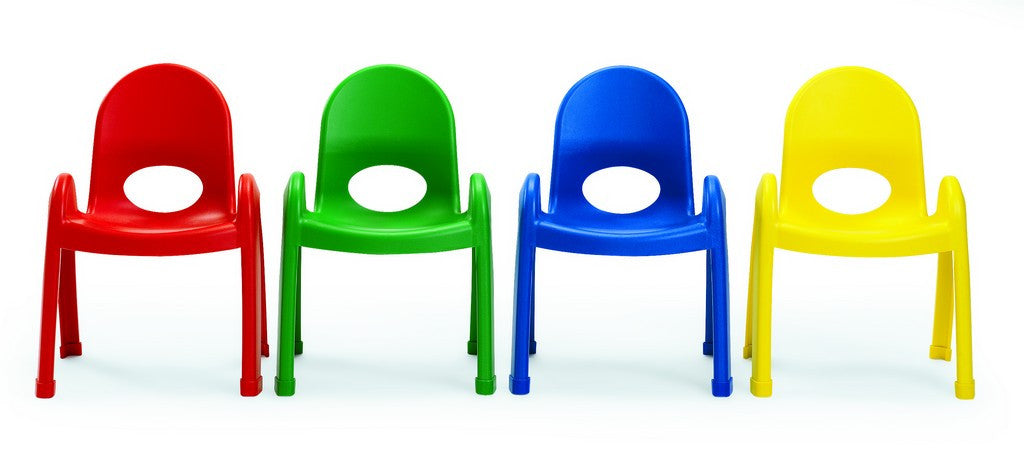 Angeles Value Stack Chairs - 4 PACK Primary Colors Only - 5 Sizes Available