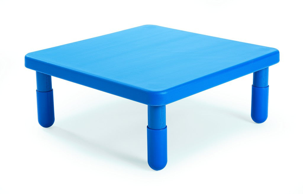"Angeles 28"" Square Value Kids Table and Legs - Royal Blue 18""   AB700PB18"