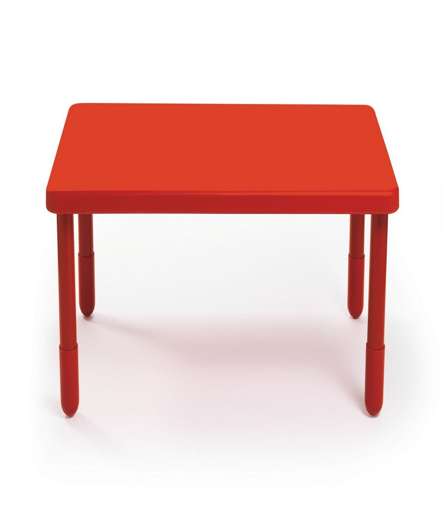 "Angeles 28"" Square Value Kids Table and Legs - Candy Apple Red 14""   AB700PR14"