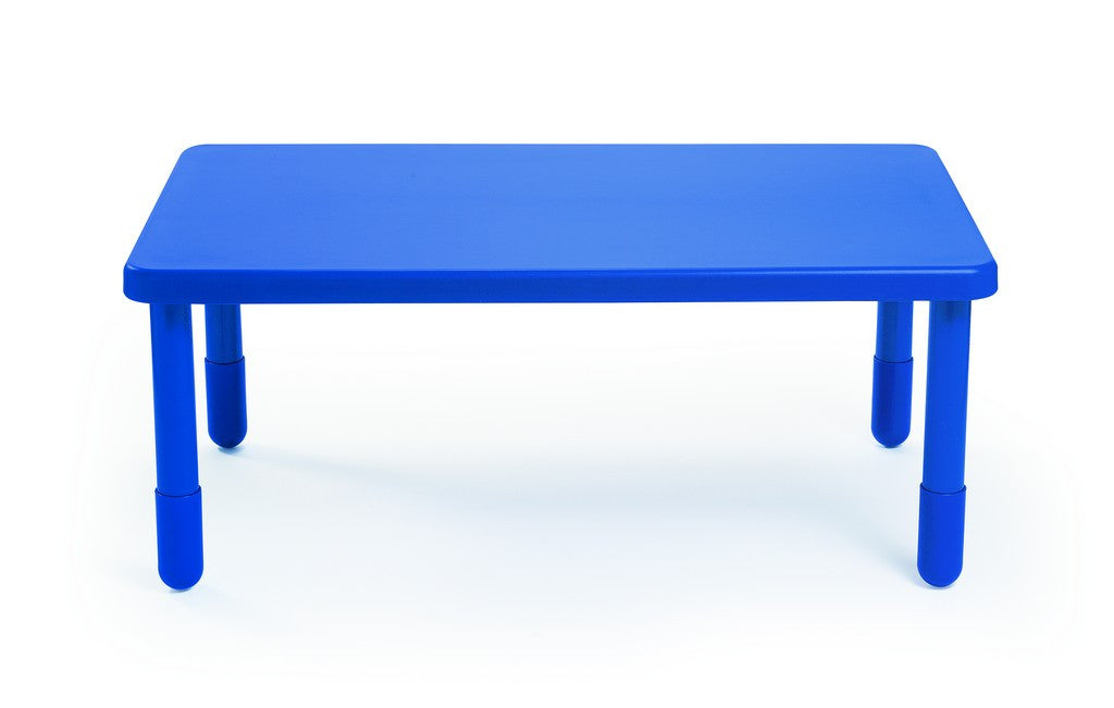 "Angeles 48"" Rectangular Value Kids Table and Legs - Royal Blue 24""  AB705PB24"