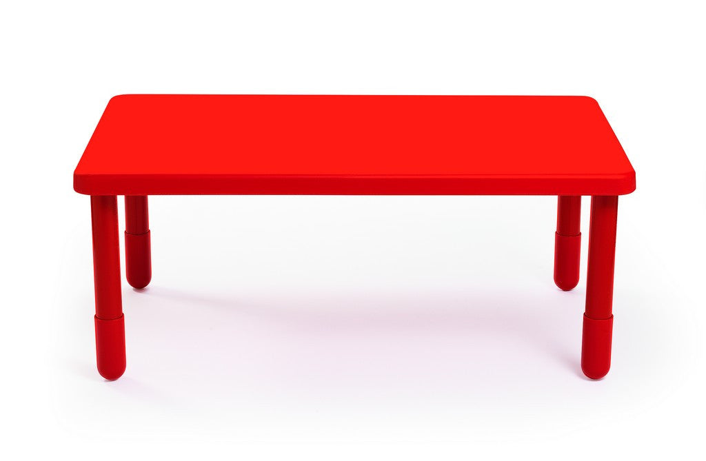 "Angeles 48"" Rectangular Value Kids Table and Legs - Candy Apple Red 24""  AB705PR24"