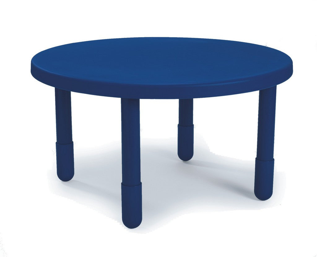 "Angeles 36"" Round Value Kids Table and Legs - Royal Blue 12""   AB710PB12"
