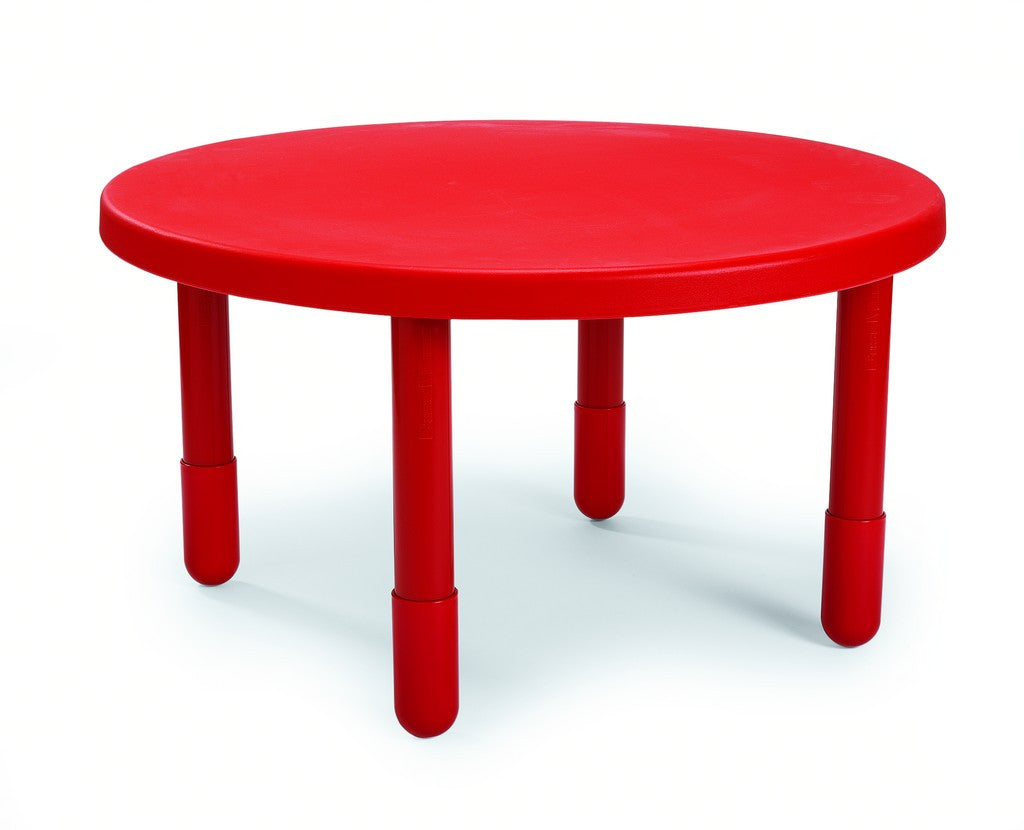 "Angeles 36"" Round Value Kids Table and Legs - Candy Apple Red 12"" AB710PR12"