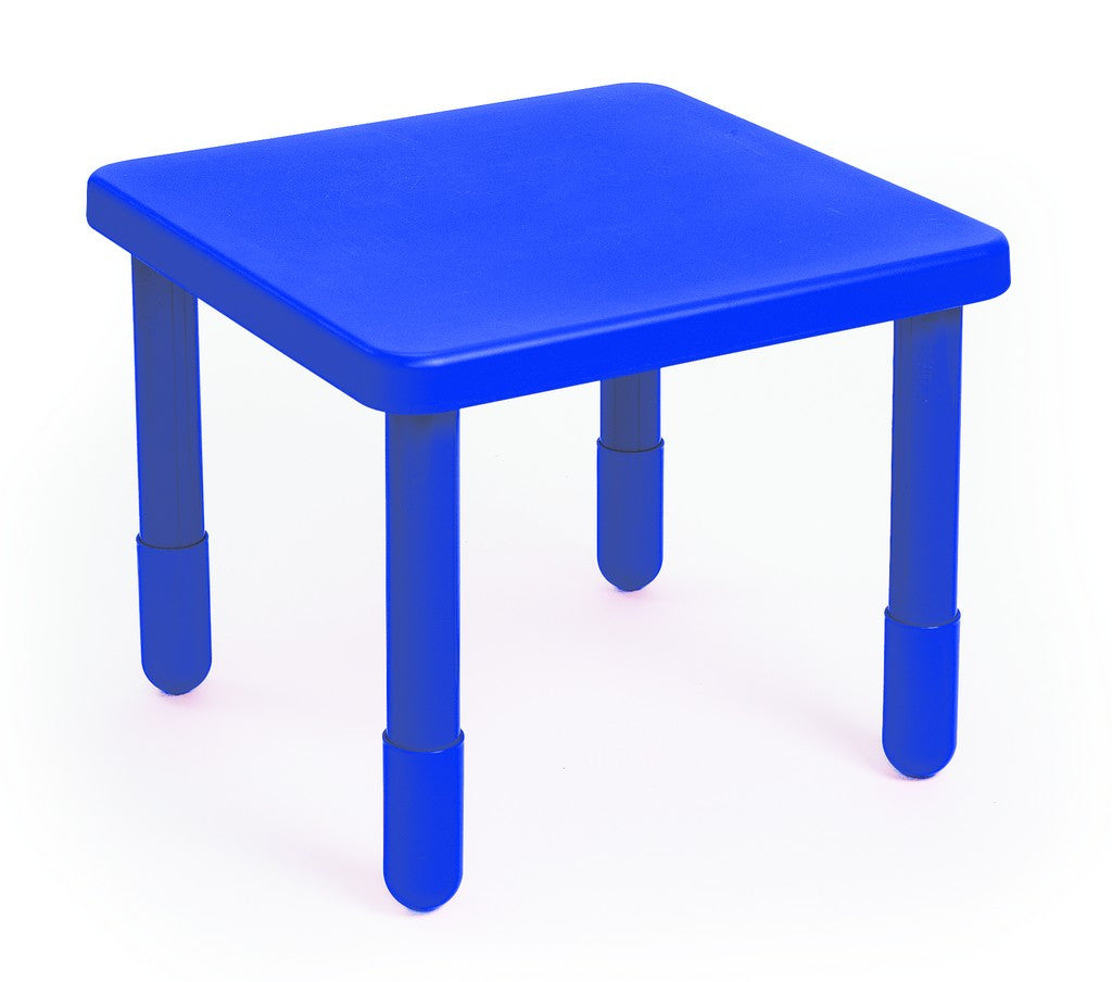 "Angeles 24"" Square Value Kids Table and Legs - Royal Blue 20""  AB715PB20"