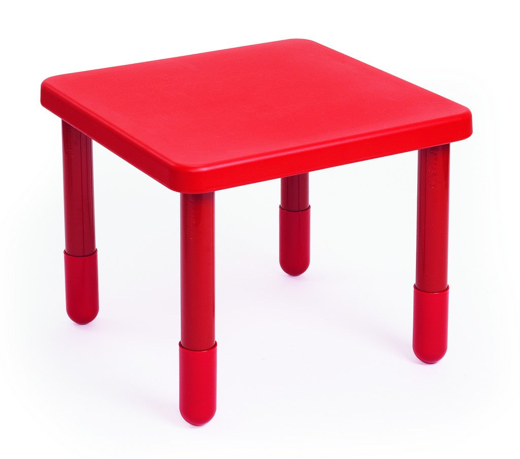 "Angeles 24"" Square Value Kids Table and Legs - Candy Apple Red 20""   AB715PR20"
