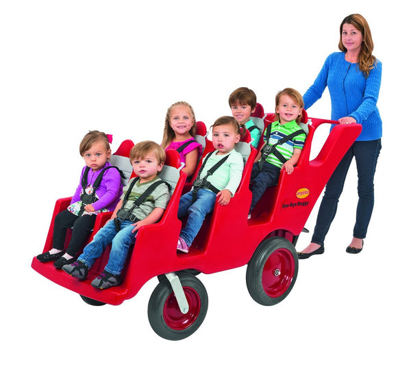 Angeles Bye-Bye Buggy 6-Passenger Fat Tires -Red/Gray