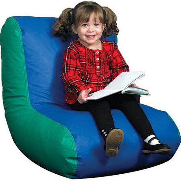 Children's Factory Preschool High Back Lounger - Blue/Green