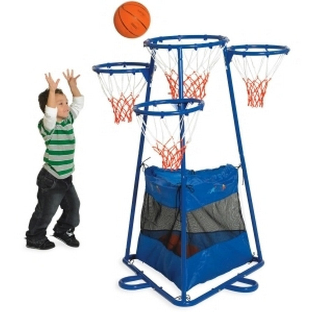 Children's Factory Multi-Hoop Basketball Stand with Storage Bag