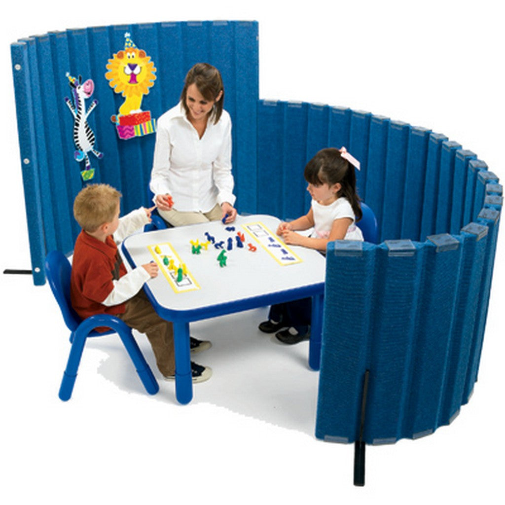 "Angeles  72""L X 48""H SoundSponge Quiet Dividers Wall with 2 Support Feet - Blueberry"