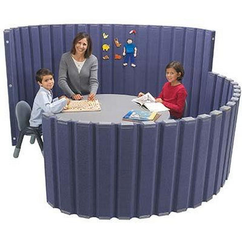 "Angeles  120""L x 48""H SoundSponge Quiet Dividers Wall with 2 Support Feet - Slate Blue"