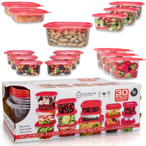 30 Pcs Food Containers with Lids