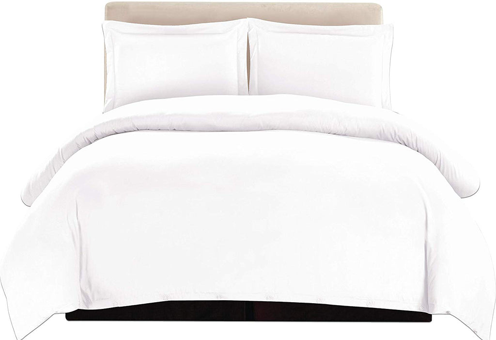 3-Piece Duvet Cover Set (White)