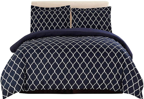 3-Piece Duvet Cover Set (Black/White)