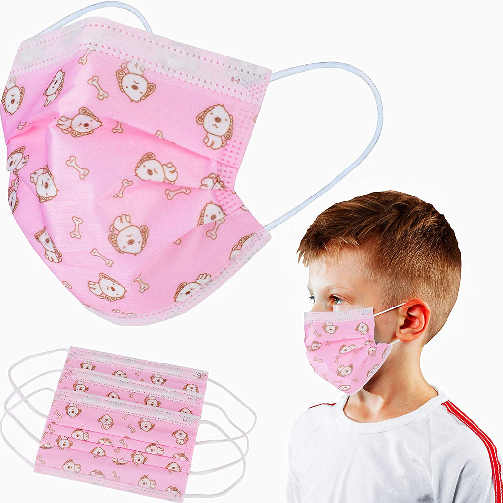 50 Pack Kids Disposable Face Masks - 3 PLY, Breathable & Comfortable
