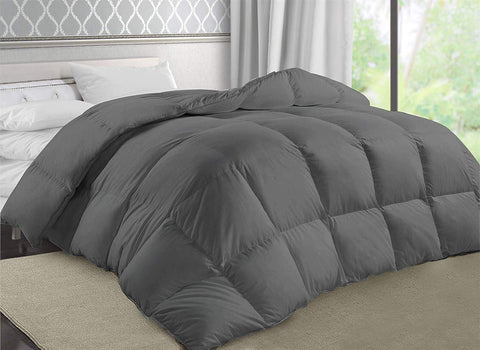 Down Alternative Comforter Duvet Insert (Grey)