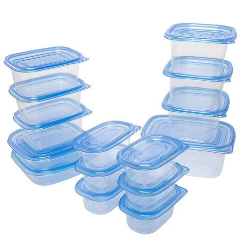 54 Pcs Plastic Food Storage Container Set