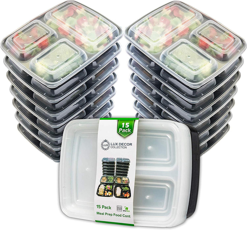 [15 Pack] Meal Prep Food Storage Containers