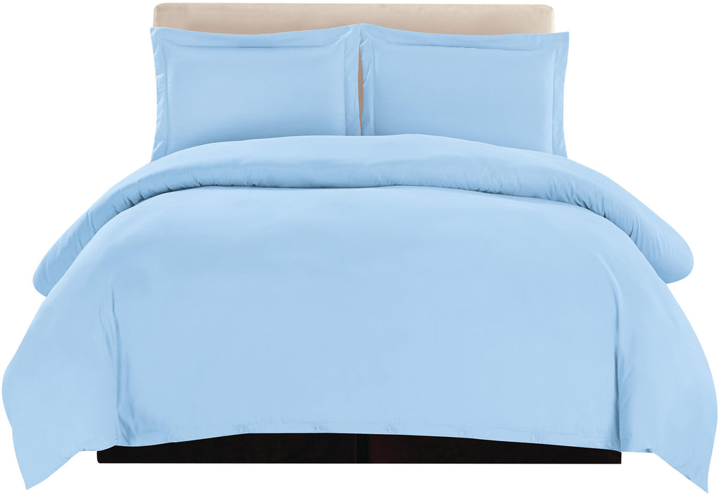 3-Piece Duvet Cover Set (Blue)