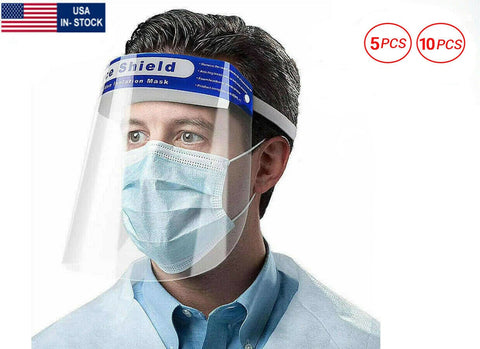 Full Face Shield Reusable Protection Cover Mask Face Eye Safety