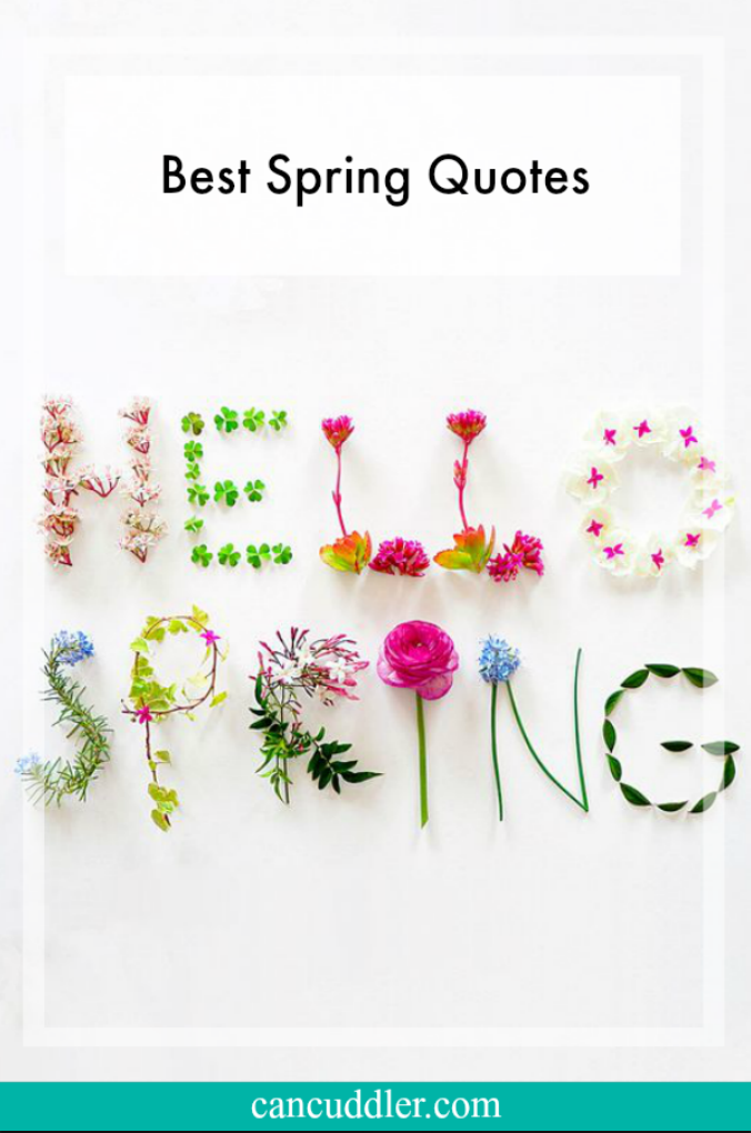 Best Spring Quotes