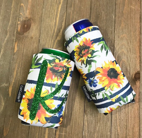 Personalized Sunflower Can Cuddler® - Slim Can