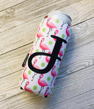 Personalized Flamingo Can Cuddler® - Slim Can
