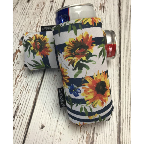 Sunflower Can Cuddler ®- Select your size; standard can, slim can or 16-20 oz bottle