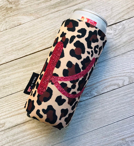 Personalized Leopard Can Cuddler® - Slim Can
