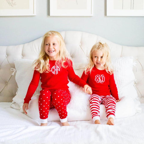 Patterned Toddler Christmas Pj's