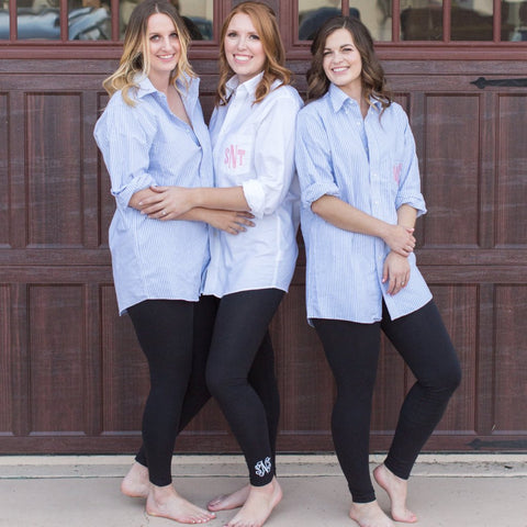 Bridesmaid Button Down Monogrammed Shirt
