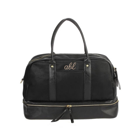personalized vegan leather weekender