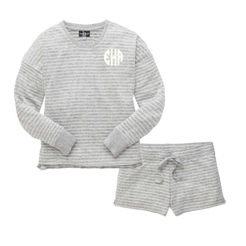 Crewneck and Shorts Cuddle Set