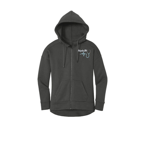 Nurse Hooded Full Zip Jacket